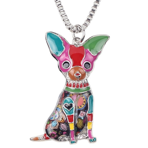 Chihuahua Multicolor Necklace