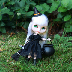 Blythe or Pullip doll witch dress Halloween costume