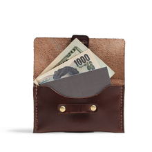 Orox Brown Leather Horizontal Cardholder