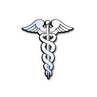 Caduceus Car Plaque