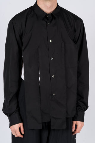 COMME DES GARCONS HOMME PLUS FRINGED COTTON BUTTON SHIRT - BLENDS