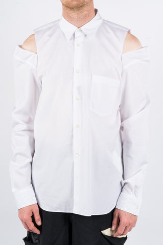 COMME DES GARCONS HOMME PLUS CUT OUT SHIRT WHITE - BLENDS