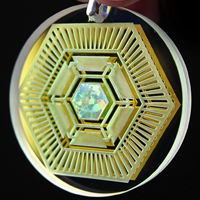 Dichro Hexcell Opal Refractor Coin Pendant
