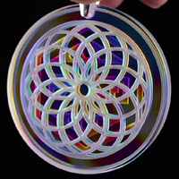 Blasted Tie Dye Retti Refractor Coin Pendant
