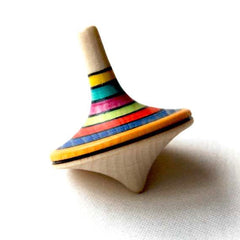 Wooden Spinning Top Toy, Multi-Colored