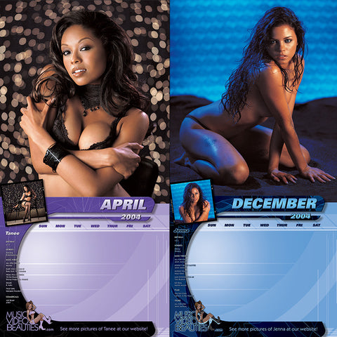 VINTAGE Music Video Beauties <br/>RARE Sealed 2004 Calendar<br/> First Pro Photos by Nick Saglimbeni