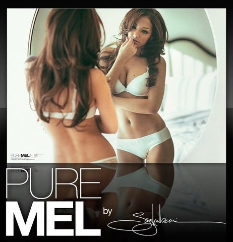 "PURE MEL by Saglimbeni #1 <br> White Lingerie in Mirror <br> 24""x36"" Wall Poster"