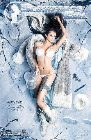 "SlickforceGirl Arctic Spy Nazanin Pin-up 11""x17"" Collector's Poster"