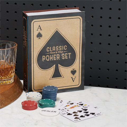 Classic Poker Set in Storage Gift Box design by Twos Company