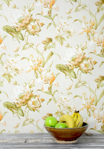 Aux Fleurs Wallpaper from the Erstwhile Collection by Milton & King