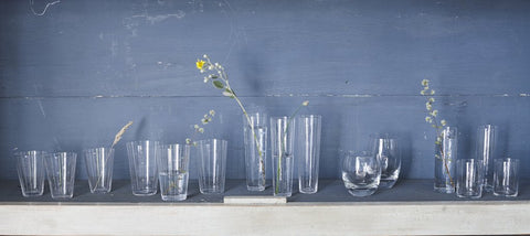 Set of 4 Round Bottom Glasses in Various Sizes design by Canvas