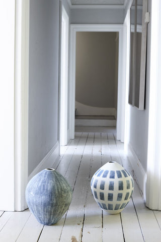 Taroudant Indigo Egg Vase in Various Colors design by Canvas