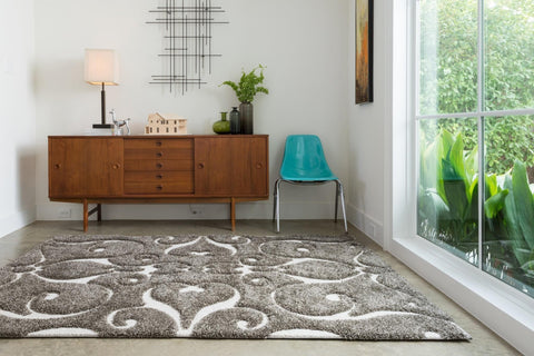 Enchant Rug in Smoke design by Loloi