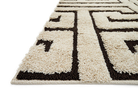 Enchant Rug in Ivory & Dark Brown design by Loloi