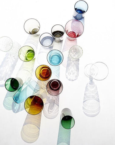 Set of 4 Eau Minerale Glasses in Various Colors design by Canvas