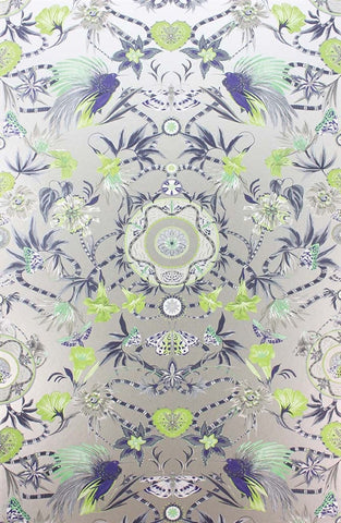 Menagerie Wallpaper in Kiwi and Mint by Matthew Williamson for Osborne & Little