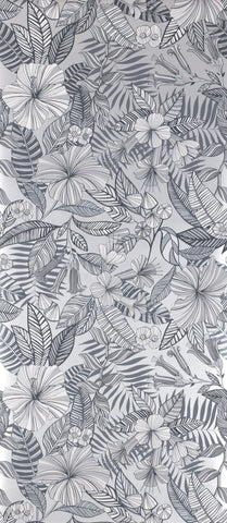 Valldemossa Wallpaper in gray from the Deya Collection by Matthew Williamson
