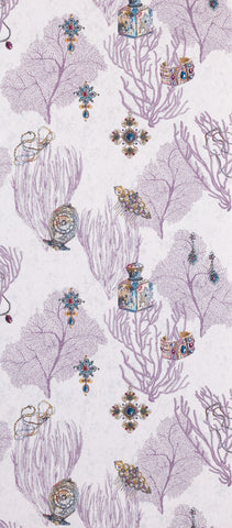 Coralino Wallpaper in purple from the Deya Collection by Matthew Williamson