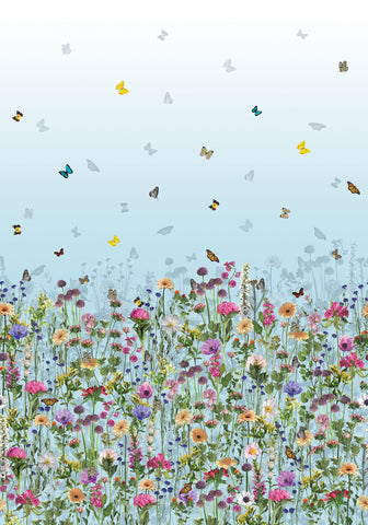 Deya Meadow Wallpaper in multi-color from the Deya Collection by Matthew Williamson