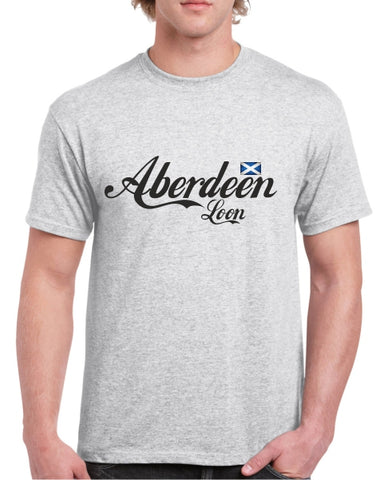 Aberdeen Loon Cola Text T-Shirt