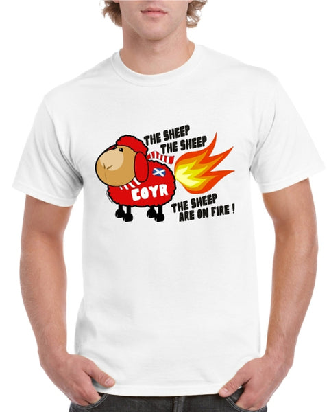 Sheep Are On Fire T-Shirt (RED SHEEP)