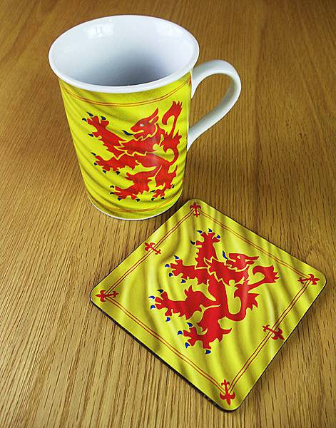 Lion Rampant Mug & Coster Set (Historical Scotland)