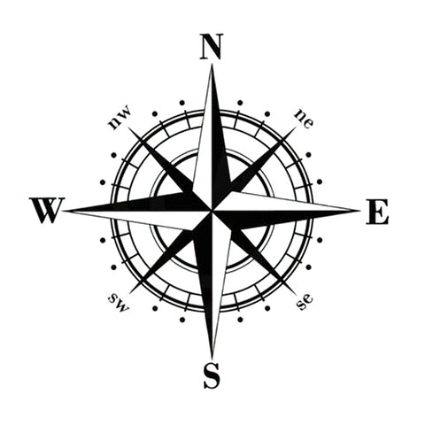 Compass Car Decal