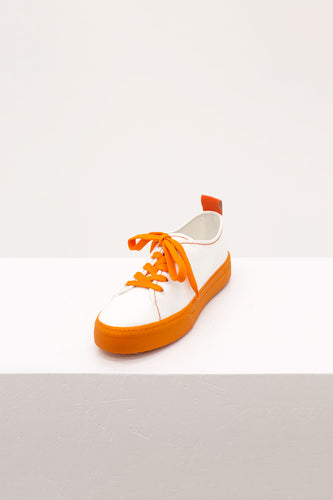 WHITE & ORANGE SUNNEI SNEAKERS