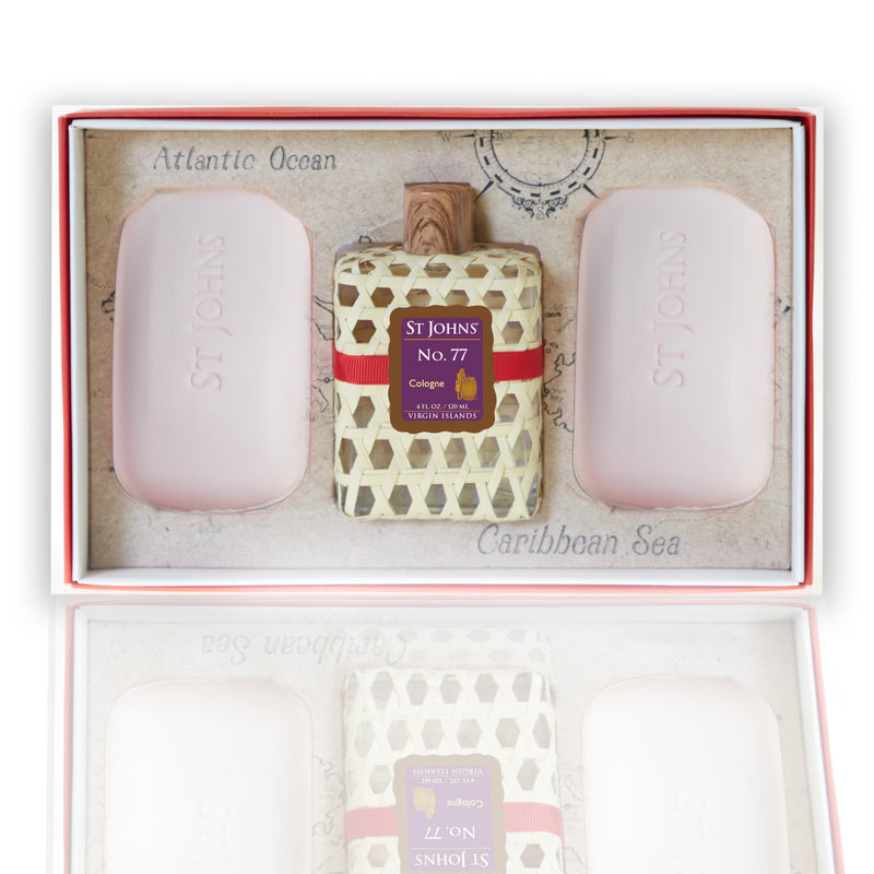 St Johns Woven Gift Sets No. 77 Cologne / No. 77 Soap (2 Bars)