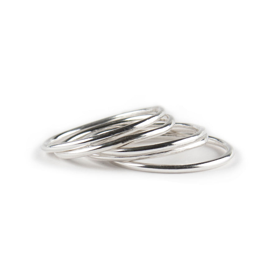 Alegra Skinny Stacking Rings available at Micky Chase Jewelry