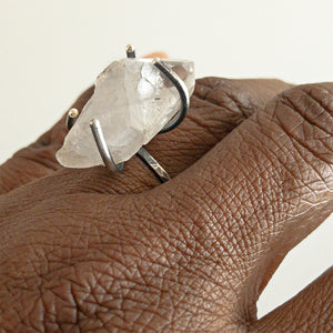 Aletha Quartz Crystal Statement Ring available at Micky Chase Jewelry