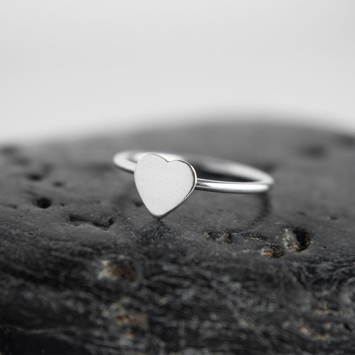Aretha Sterling Silver Heart Stacking Ring available at Micky Chase Jewelry