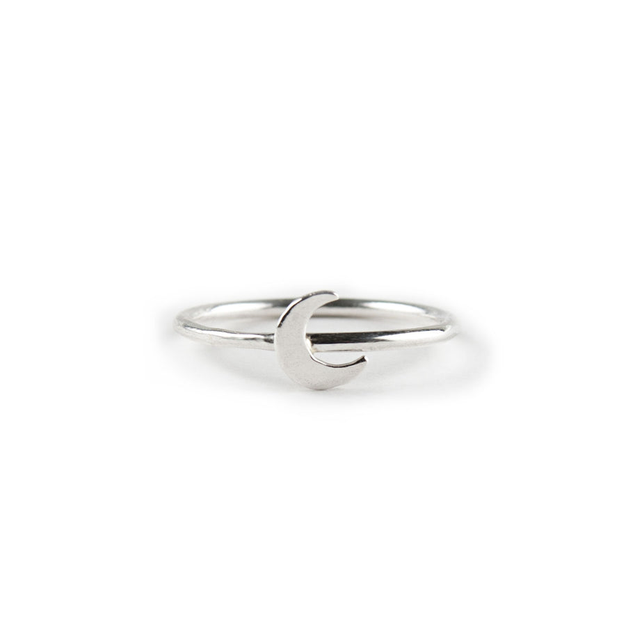 Athena Crescent Moon Stacking Ring available at Micky Chase Jewelry