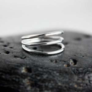 Bianca Triple Tier Sterling Silver Ring available at Micky Chase Jewelry