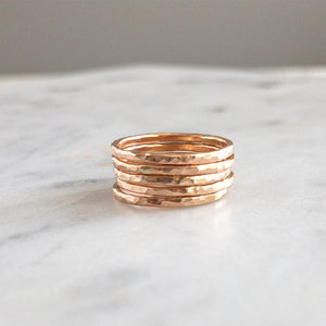 Clarise 14K Gold Stacking Rings