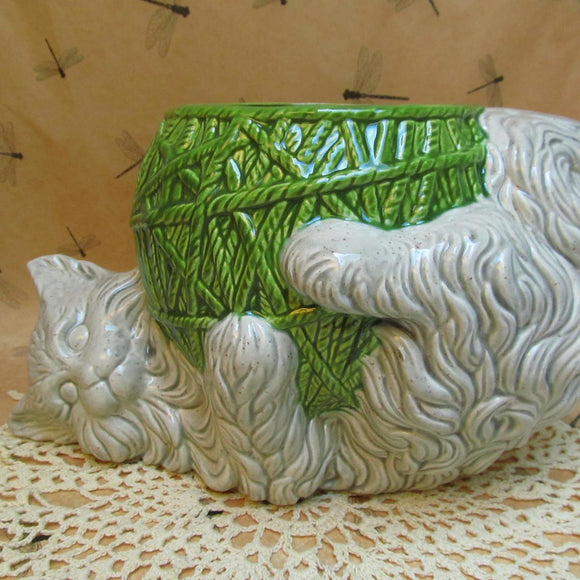 Cat with Yarn planter