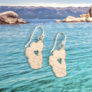 "Lake Tahoe Silver Earrings, 5/8"" Tahoes"