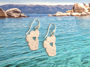"Lake Tahoe Silver Earrings, 1"" Tahoes"