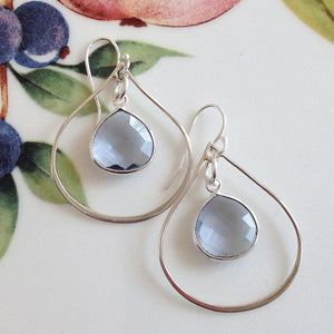 Sterling Silver Iolite Teardrop Earrings