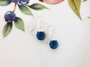 Sterling Silver London Blue Briolette Earrings