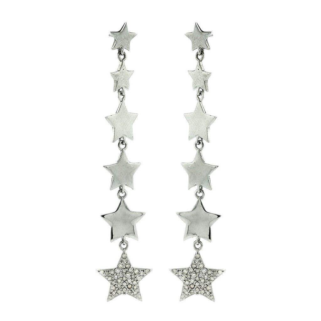 Dangling Star Diamond Earrings