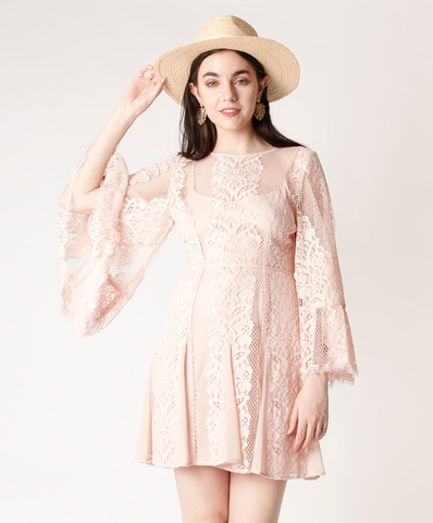 Lace Bell Sleeve Dres