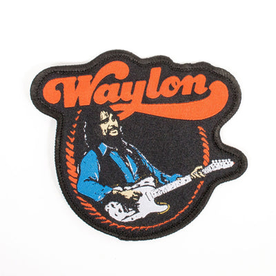 Waylon Jennings Telecaster Embroidered Patch - Accessories - Waylon Jennings Merch Co.