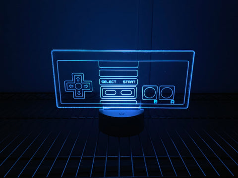 Nintendo Controller Inspired Color Changing Acrylic Sign