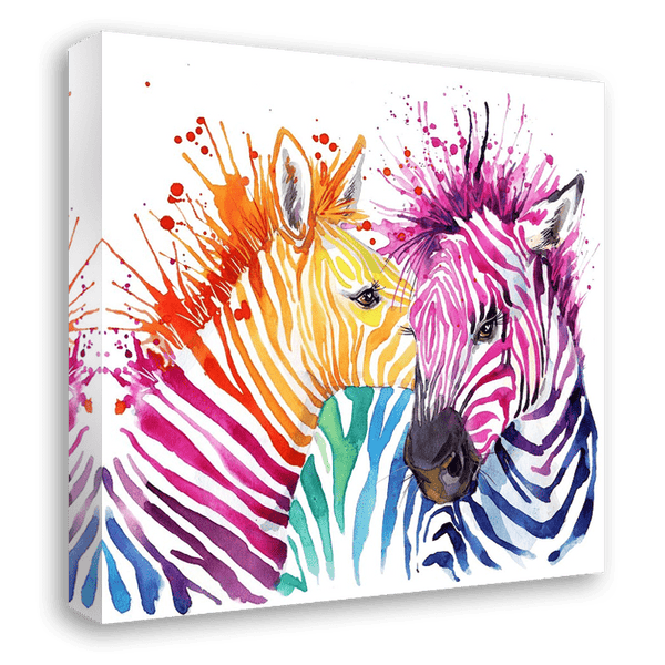 Stripes & Bliss - Canvas Print ART-CN157-60x60cm