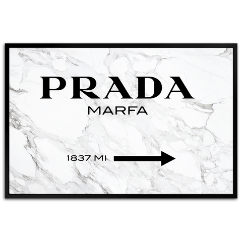 Prada Marfa on Marble - Framed & Varnished Resin Art - CNL265 - 80x120cm