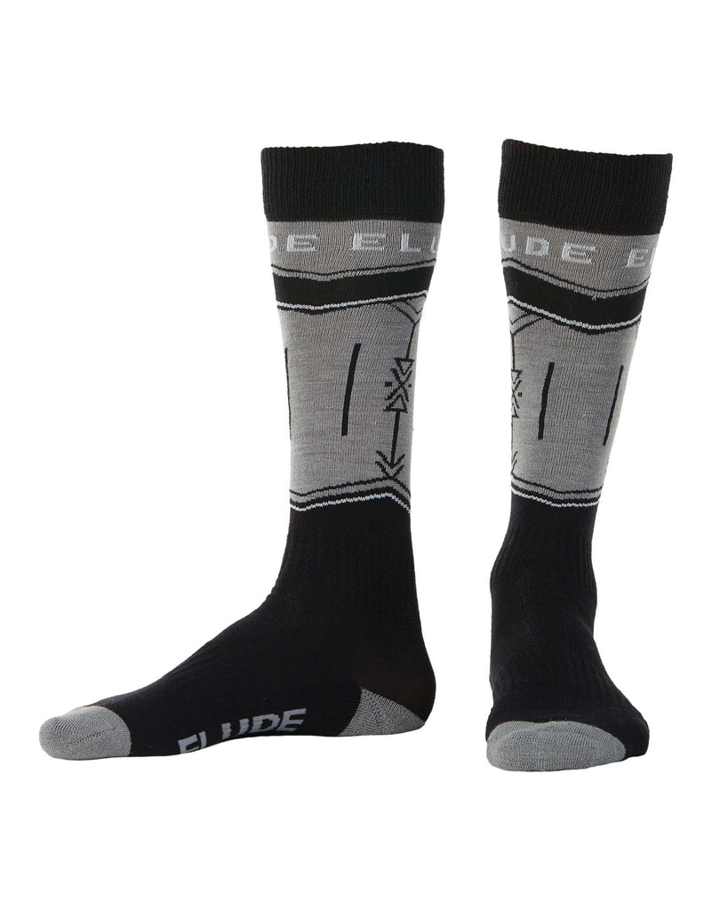 Elude Arrow Ski Socks-42 - 44-True Black-aussieskier.com