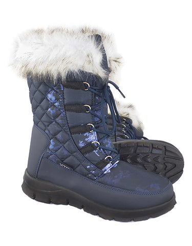 Image of XTM Inessa Womens Apres Boot-36-Navy Floral-aussieskier.com