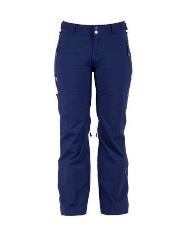Image of Pure Snow Ruapehu Womens Ski Pants-8-Navy-aussieskier.com