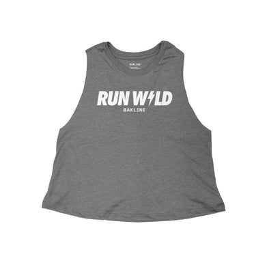 Run Wild Heathered Racerback Crop Tank - Bakline